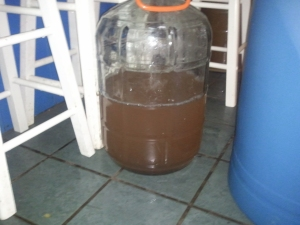 4th runnings- I filled this whole carboy and the color was a beautiful rosé