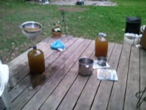 2 (5 gal) batches of dandelion wine ,cooling