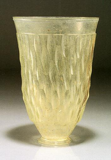 Cut glass, 1st-2nd century B.C.E., from the Eastern Mediterranean. Image from the website of the Miho Museum.
